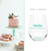 stemless mint green turquoise