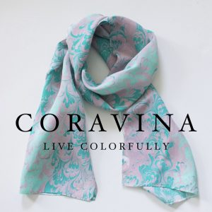 Water Marbled 100% Silk Scarves