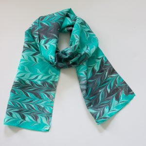 Teal and black scarf