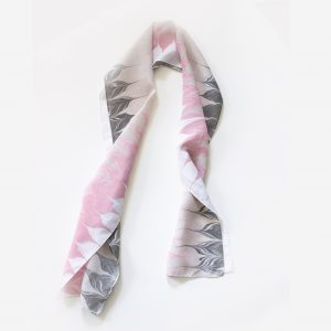 Pink and Gray Feminine Scarf