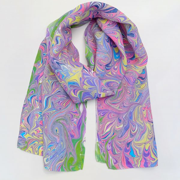 Pastel Silk Scarf For Her