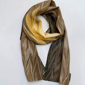 Brown and yellow scarf
