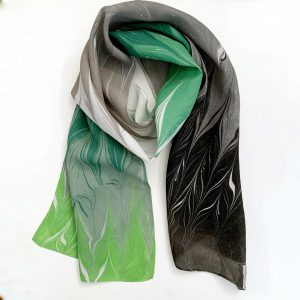 Green, Grey, and Black Scarf