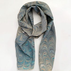 Dark Teal and Brown Scarf