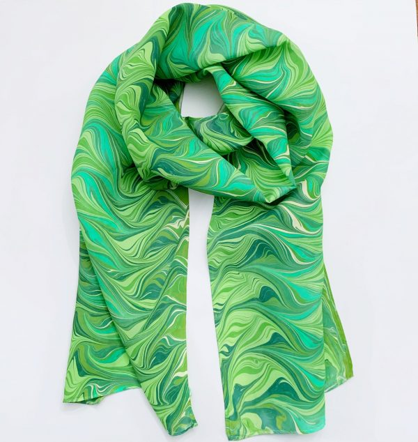Green Silk Scarf For Her