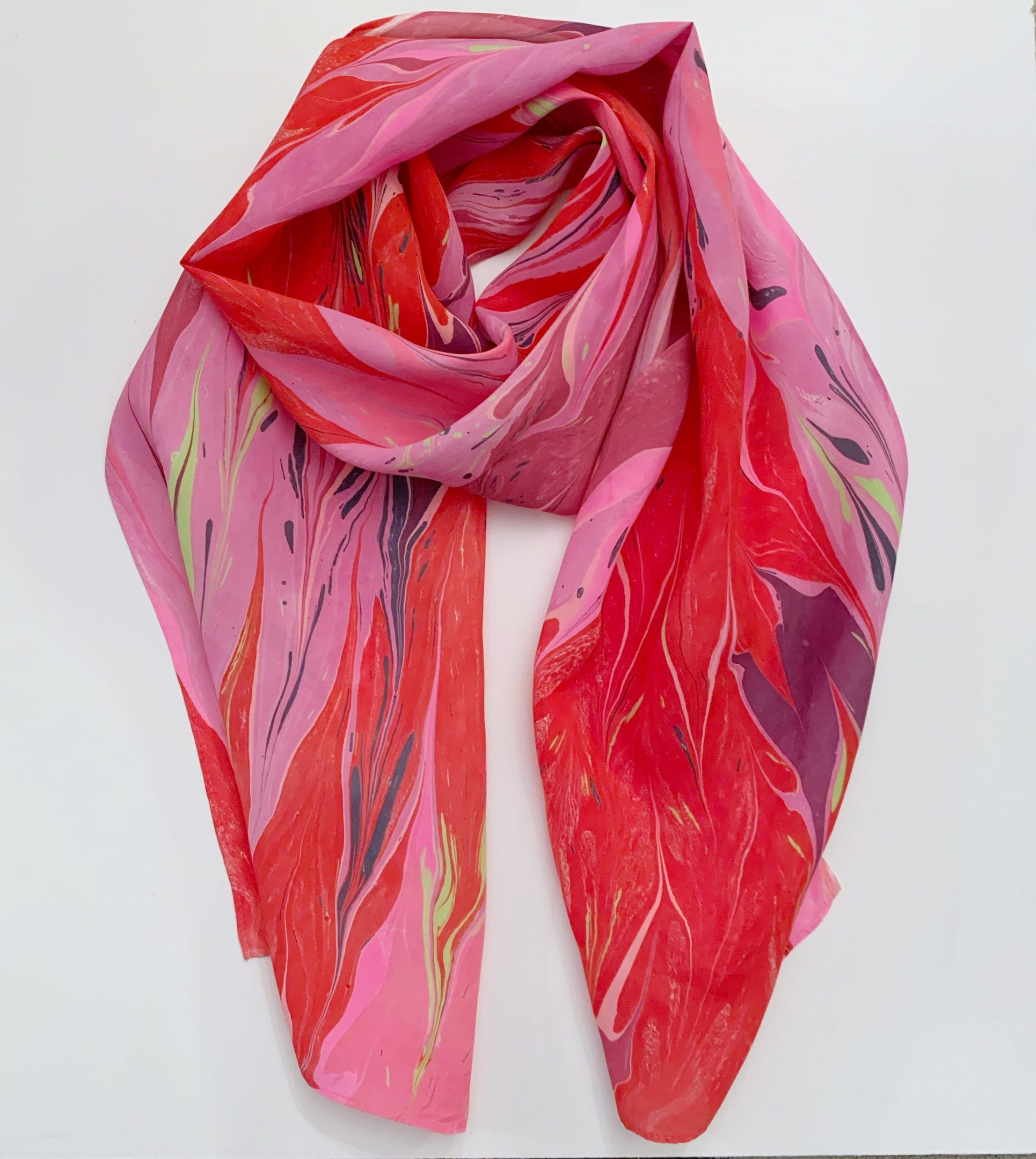 Water Marbled Scarves