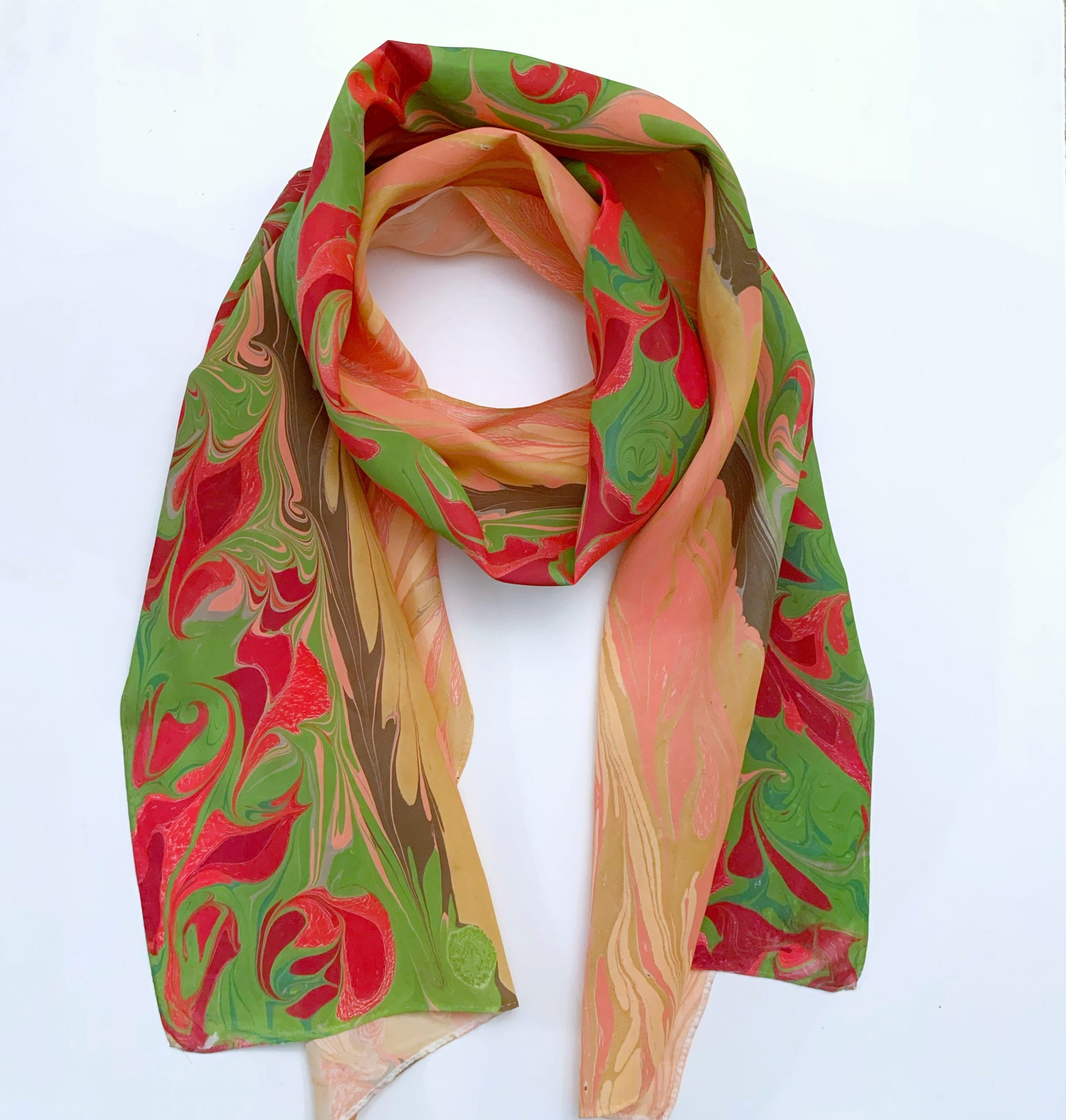 Colorful Painted Scarf