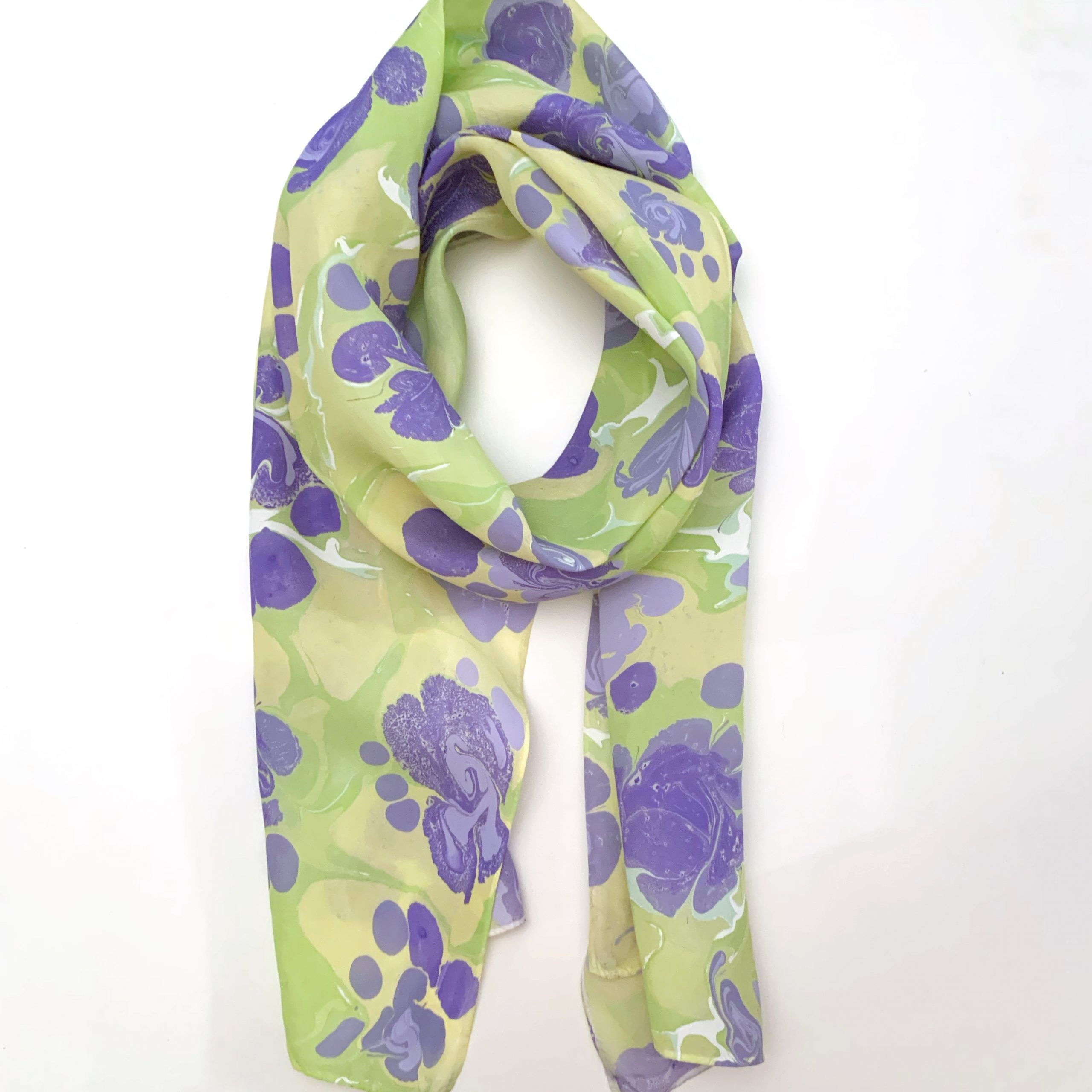 Greena nd Lavender Lightweight Scarf