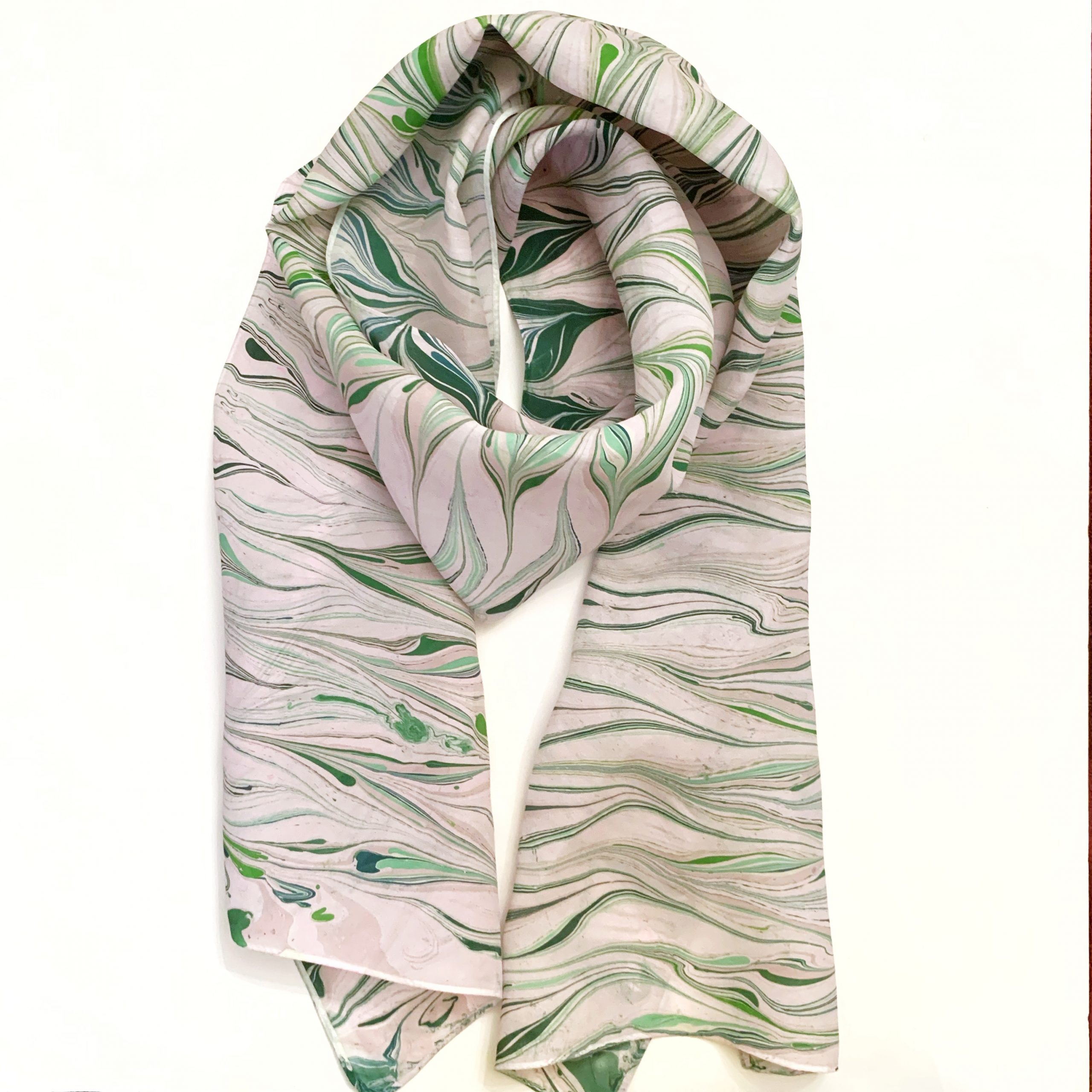 Pink and green zebra scarf